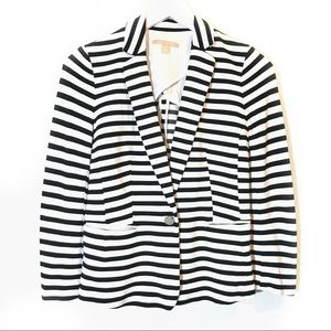 Banana Republic Black & White Stripe Blazer